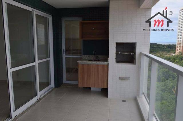 Apartamento 3/4 com 2 vagas vista mar à venda no Greenville Patamares, Salvador. Oportun