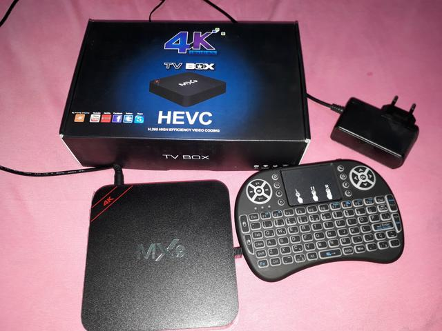 Tv Box Nova Na Caixa, Com Mini Teclado Led
