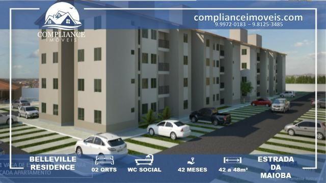 Lançamento! RS 500,00 de Entrada, Apartamentos com 2 Quartos à Venda, Estrada da Maioba