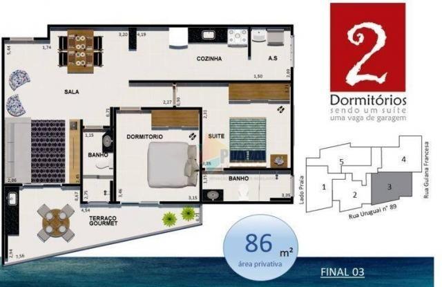 Apartamento à venda, 86 m² por r$ 425.927,00 - vila guilhermina - praia grande/sp