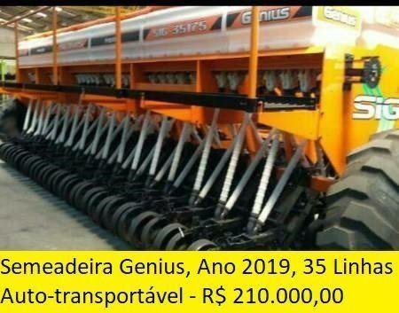 Semeadeira Genius - Ano 2019 - 35 Linhas - Auto-transportável
