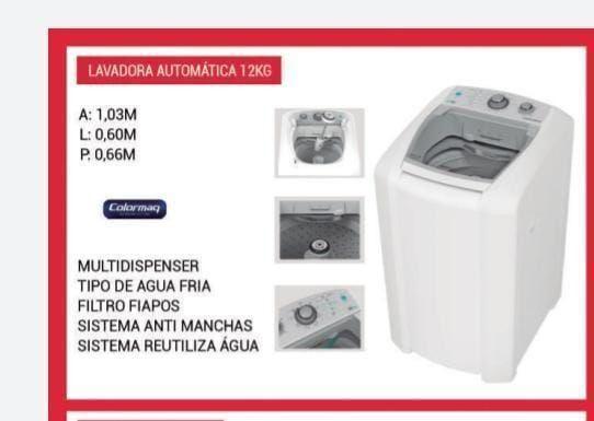 Lavadora automática LCM 12 kg