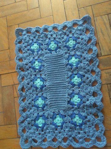 Lindos tapetes de Crochê, modelos diversos. - Foto 5