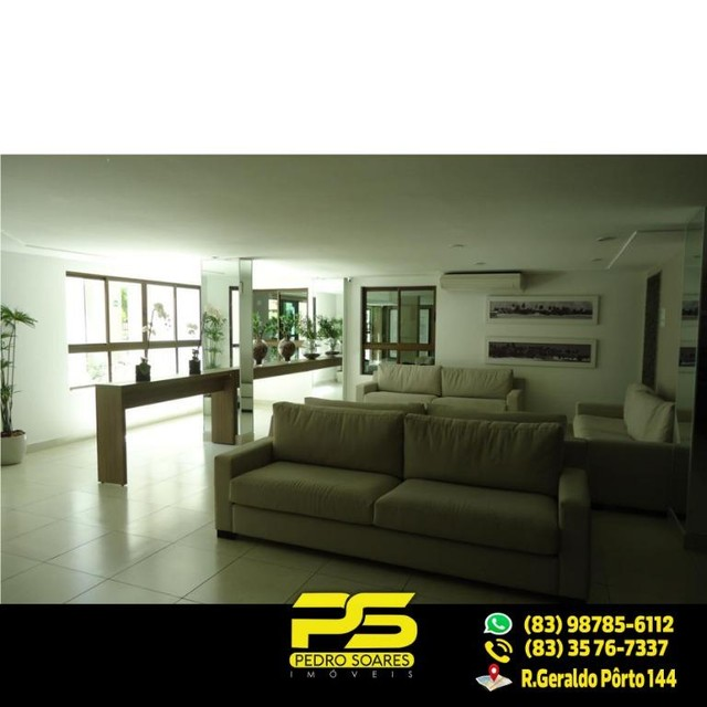 (LUXO) Cobertura com 2 qts sendo 1 suíte à venda, 130 m² por R$ 1.000.000 - Beira mar Cabo - Foto 13