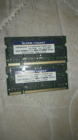 Memória SODIMM DDR2 800MHz 2GB SUPER*TALENT - T800SB2G/V<br><br>