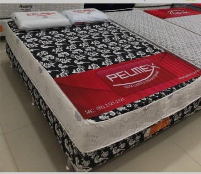 Cama cama casal box, mais 2 travesseiros de brinde/=(((**&^^^^ - Foto 2