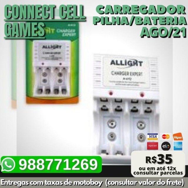 Carregador P/ Pilha Recarregavel Aa/ Aaa/ Bateria 9v Bivolt - Foto 3