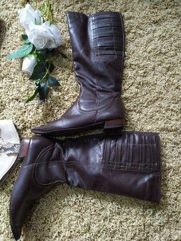 Bora estilo cobra n.37 bota marrom 35 - Foto 3