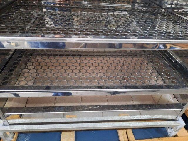 Churrasqueira de bancada em inox 2 grelhas 60x35 cm  - Foto 5