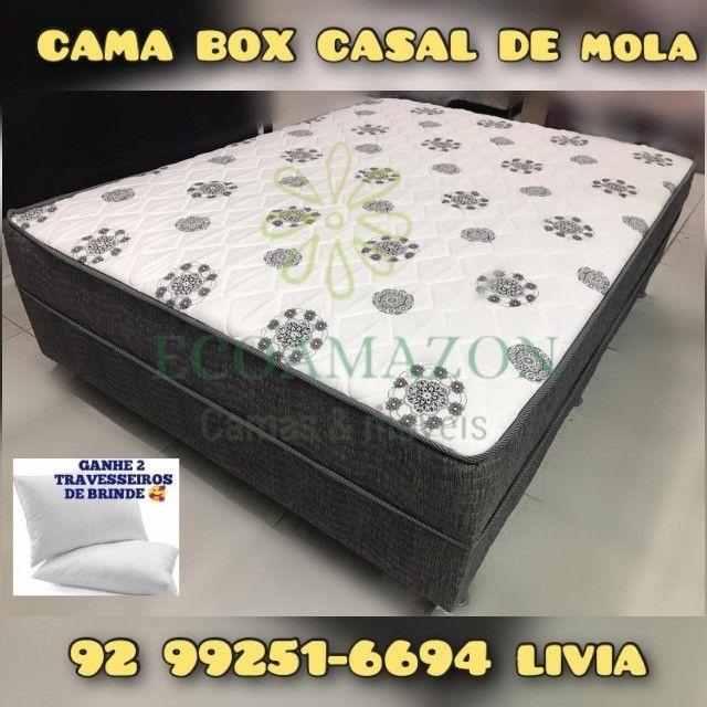 cama casal box molas ortobom = promoção