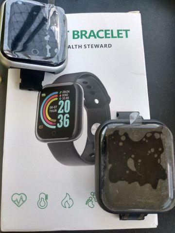 Smartwatch Relógio Inteligente Y68 D20Promoção/Compatível Com Android e IOS PRETO - Foto 6