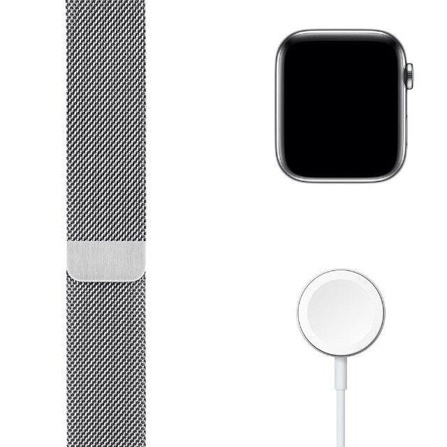 Apple Watch Series 6 (GPS + Cellular) 40mm caixa aço inoxidável e pulseira estilo milanês - Foto 6