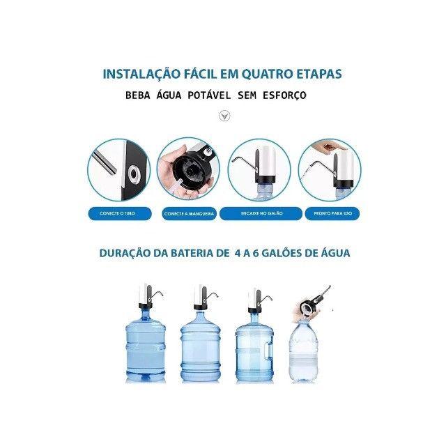 Bomba Elétrica Para Galão De Água KP-TA04 Recarregável Preto - Foto 5