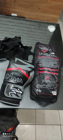 Luvas de box profissional Naja kit completo faixas e protetor bocal NOVO