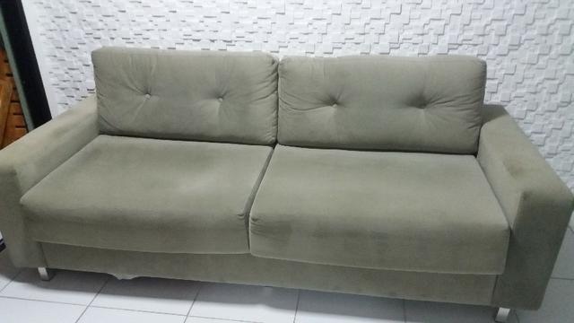 Sofá novo em sued verde musgo