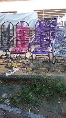 Cadeiras de balanço várias cores novas
