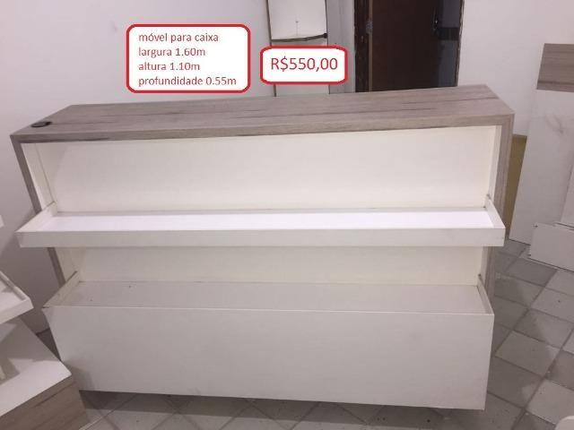 Diversos móveis para loja, 100% MDF (conservados e de ótima qualidade)