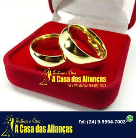 Alianças ouro 18 kialtes /Noivado e Casamento