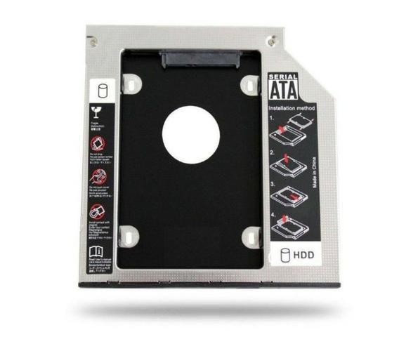 "Adaptador Caddy De 12,7 MM ou 9,5MM Para Hd Sata 2,5"" Ou SSD Exbom Hdca-s127 - Foto 4"