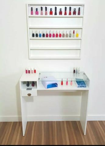 Mesa de manicure profissional+expositor - Foto 2