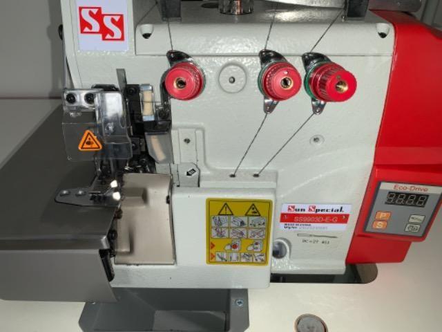 Máquina Costura Overlock Direct Drive com Mesa Bivolt SS9903D-E-G Sun Special - Foto 6