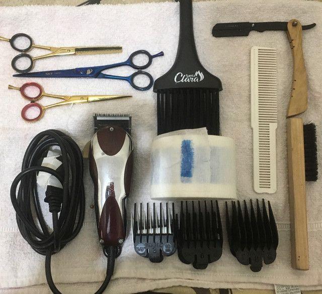 Materiais de corte (barbearia) kit completo ! - Foto 4