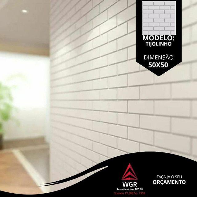 Revestimento de Parede 3D Premium de Poliestireno - Foto 5