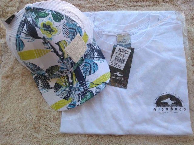 Camisa , boné e bermudas Nico boco