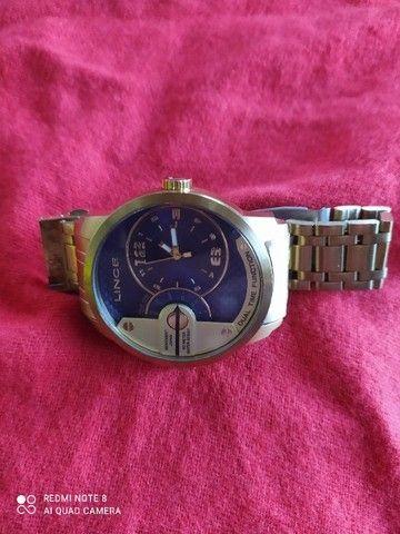 Relógio Masculino da grande marca Lince dourado - Foto 6