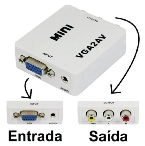 Mini Conversor de Vídeo VGA para AV