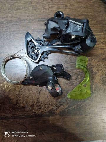 Câmbio e passador traseiro sram sx 12v - Foto 3