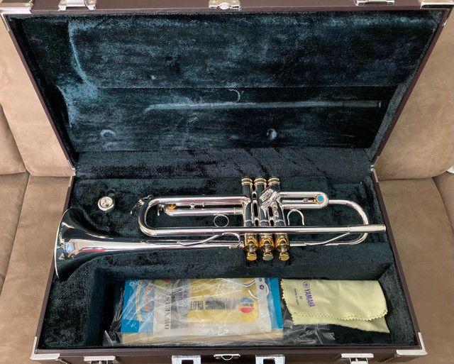 Trompete Yamaha Japan Prata  - Foto 5