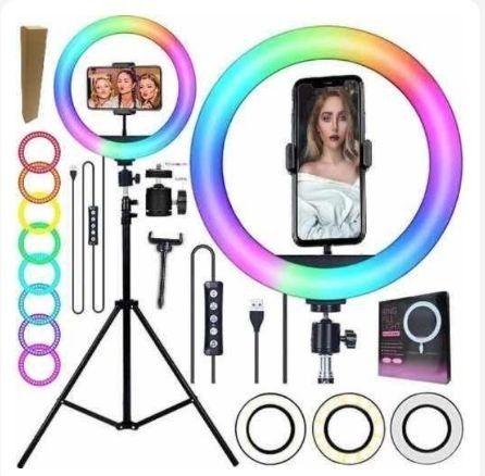 Ring Light Iluminador colorido com 16 cores  - Foto 2