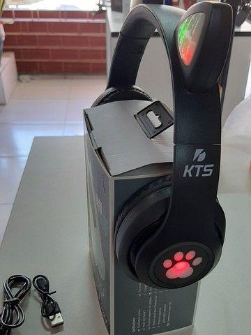 Fone Bluetooth com orelhas led - Foto 4