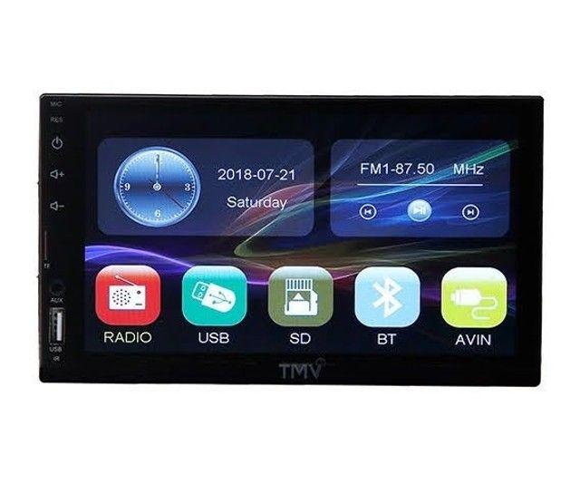 Central multimídia universal espelhamento celular touch screen LCD 7 polegadas - TMV - Foto 2