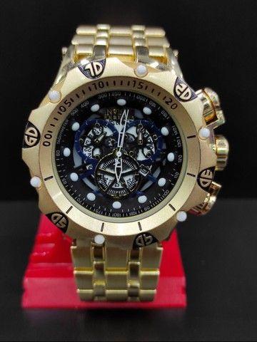 Relógio Masculino Invicta Dourado Grande 100% Prova d?água