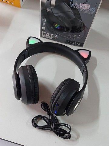 Fone Bluetooth com orelhas led - Foto 5