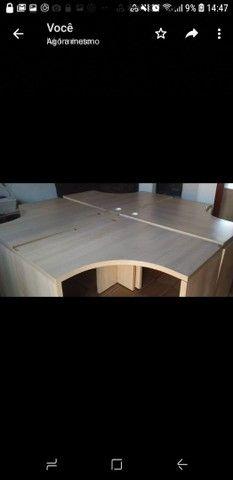 Vendo 4 mesas para escritório  - Foto 3