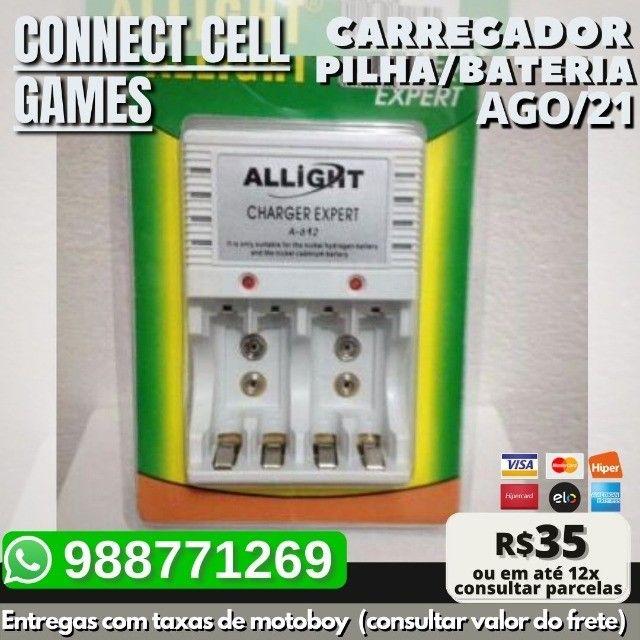 Carregador P/ Pilha Recarregavel Aa/ Aaa/ Bateria 9v Bivolt - Foto 4