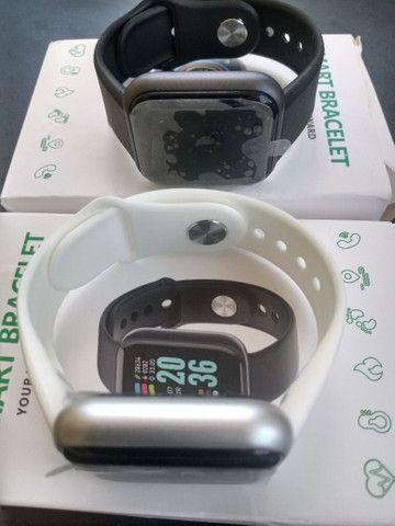 Smartwatch Relógio Inteligente Y68 D20Promoção/Compatível Com Android e IOS PRETO - Foto 4