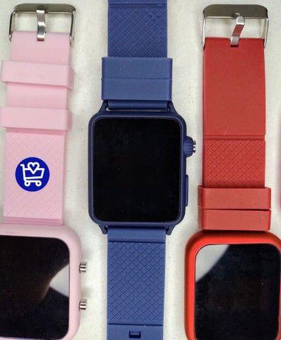 Relógio Led Multicolor (entrega em domicílio) - Foto 3