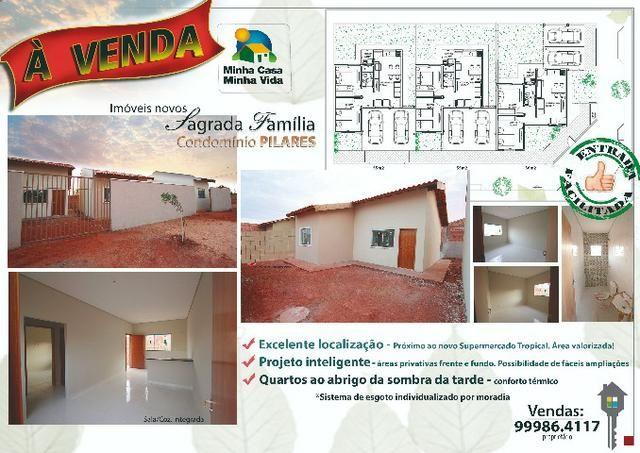 Vendo Imóvel Novo - Condomínio Pilares no Pq. Sagrada Família, Roo MT