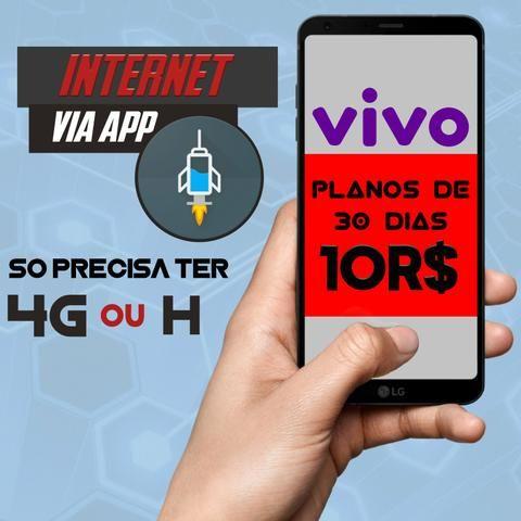 Internet (inlimitada) movel via aplicativo operadora vivo 10r$