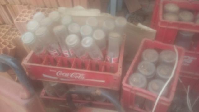 Garrafas retornáveis da Coca Cola e Fanta