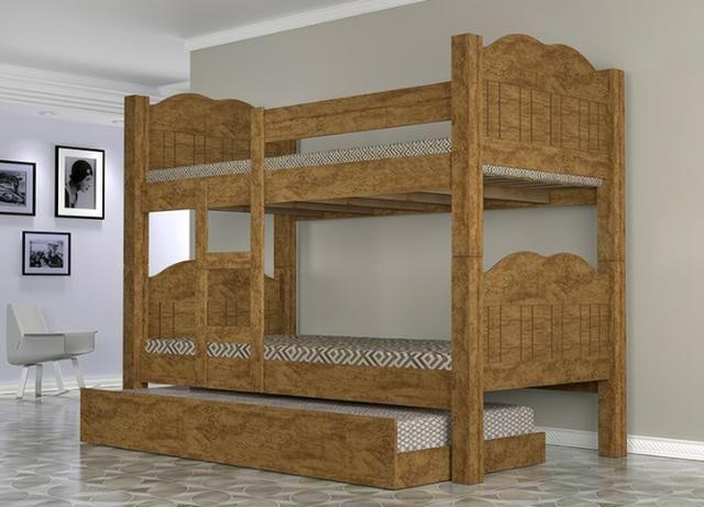 Beliche madri e cama auxiliar 100% MDF zap * - Foto 3