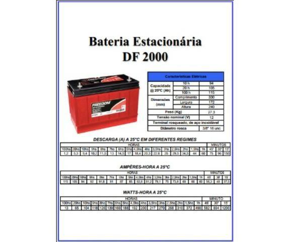 Bateria Selada P/Nobreak Df2000-Pp 12v/115ah Estacionaria - Freedom - Foto 2