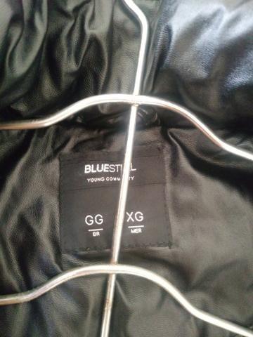 Jaqueta puffer Blue steel com toca removível zero nunca usado - Foto 6