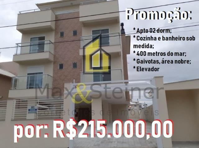 Ingleses& A 400 metros da praia, Lindo Apartamento com móveis planejados, de 02 dorm
