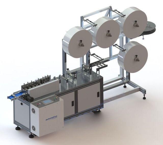 Máquina Nacional para Fabricação de Máscara Cirúrgica Descartável