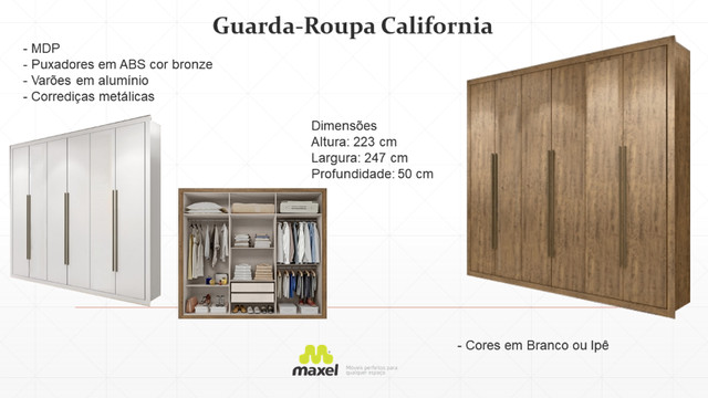 Guarda-Roupa California (Produto novo na caixa) - Foto 4